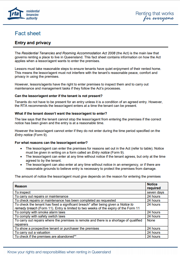fact-sheet-entry-and-privacy-odyssey-property-concierge-brisbane