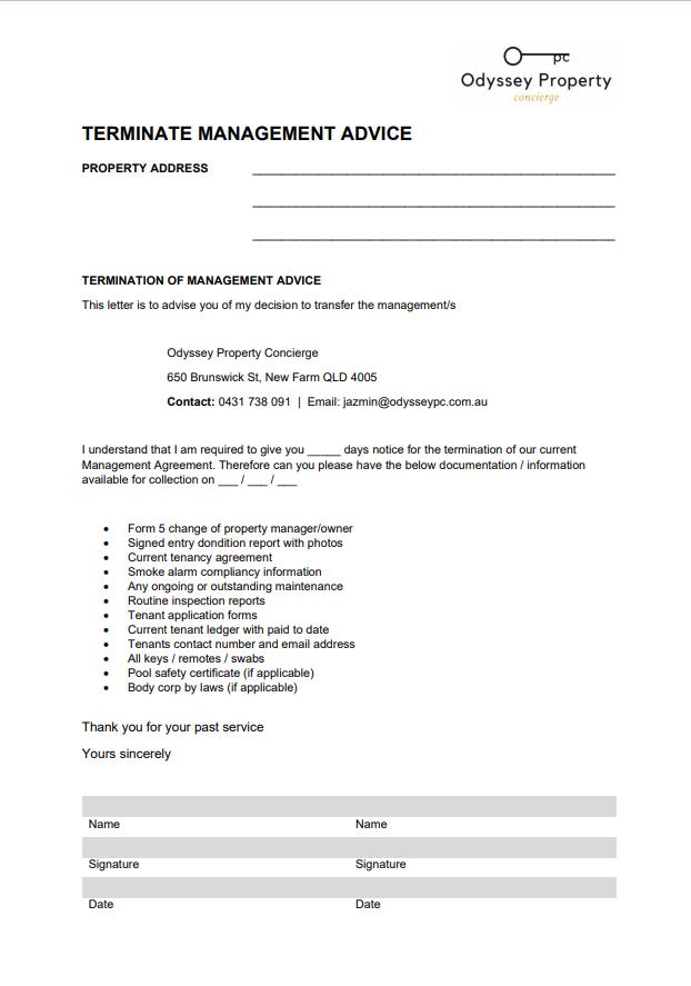terminate-management-advice-odyssey-property-concierge-brisbane